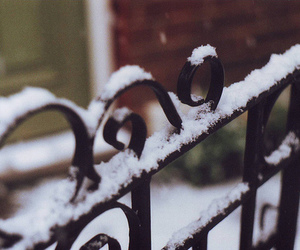 snow, gate, and photography image