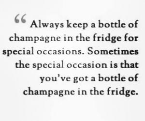 bottle, champagne, and fridge image