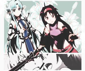 sword art online, yuuki, and asuna image
