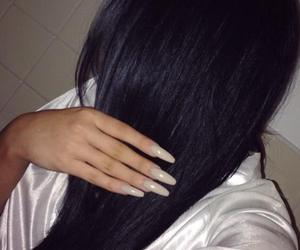 nails, hair, and selfie image