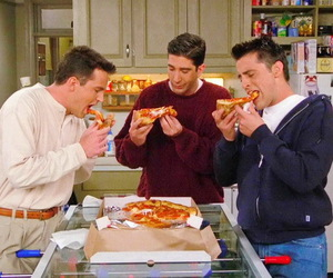 friends, pizza, and chandler image