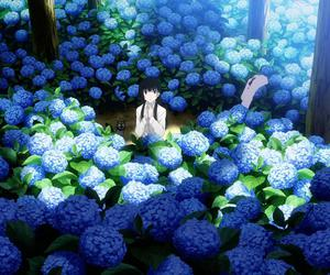 anime, flowers, and girl image