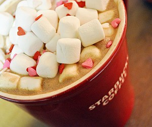 starbucks, coffee, and marshmallow image