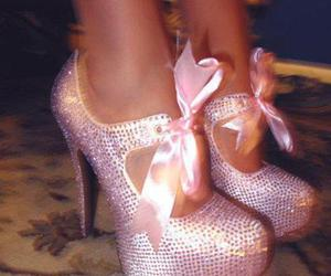 baby pink, pleaser, and pleaser heels image