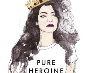 art, lorde, and pure heroine image