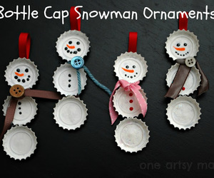 ornaments, christmas, and snowman image