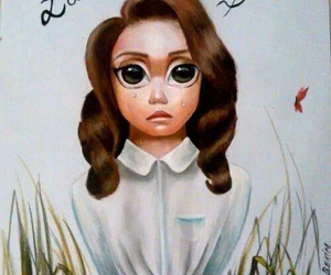 big eyes, lana del rey, and art image