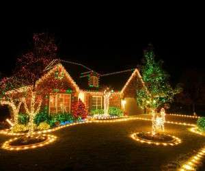 christmas, lights, and house image