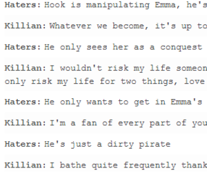 haters, captain hook, and ouat image