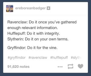 gryffindor, harry potter, and slytherin image