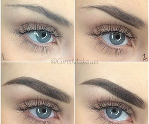 how to, make up, and brows image