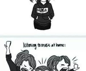 music, funny, and home image