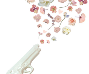 flowers and gun image