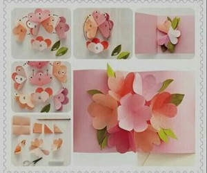 diy, flowers, and card image