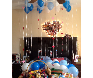 ballons, bedroom, and boyfriend image