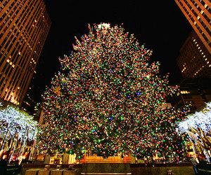 christmas, new york, and lights image