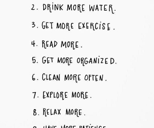 clean, drink, and exercise image