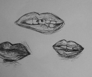 drawing and lips image