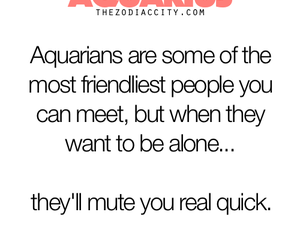 alone, aquarius, and astrology image