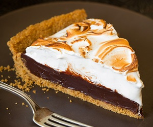 food, chocolate, and pie image