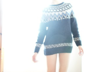 blurry, cozy, and sweater image