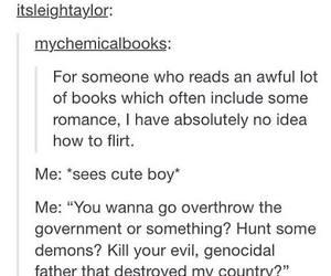 book, boy, and flirt image