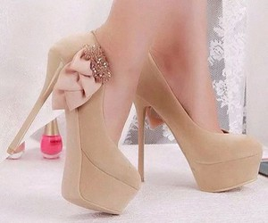 shoes, beautiful, and beige image
