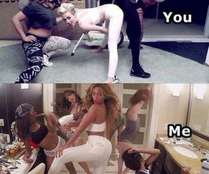 beyoncé, miley cyrus, and me image