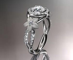 ring, diamond, and flowers image