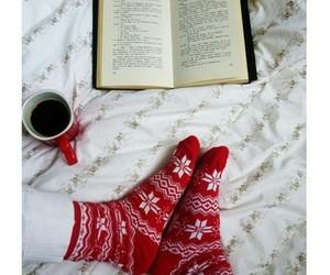 christmas, book, and socks image