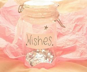 wish, pink, and stars image