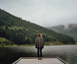 girl, alone, and nature image