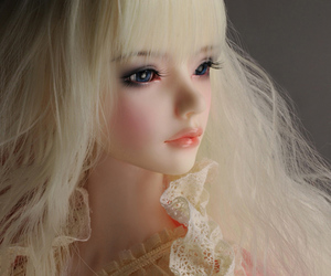 ball jointed doll, dollmore, and half closed eye doll image