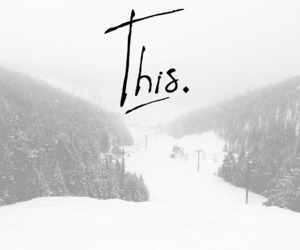 this, winter, and ski image