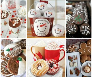 christmas, Cookies, and drink image
