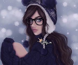 girly_m, drawing, and winter image