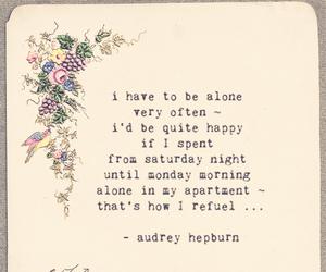 alone, audrey hepburn, and quotation image