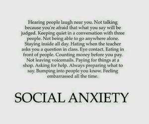 embarassed, shy, and social anxiety image