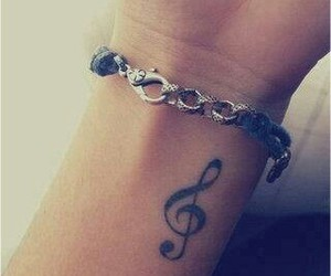 tattoo, music, and bracelet image