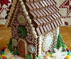 chocolate, cake, and house image