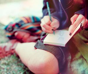 girl and writing image