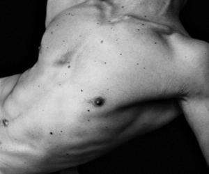 body, boy, and black and white image