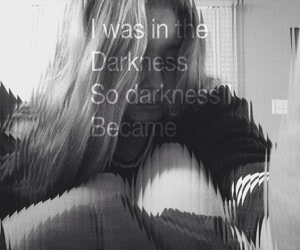 black and white, Darkness, and girl image
