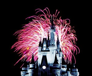 fireworks, disney, and castle image