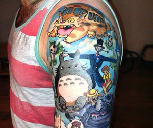 tattoo, totoro, and studio ghibli image