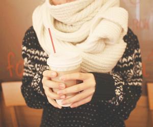 fashion, winter, and coffee image