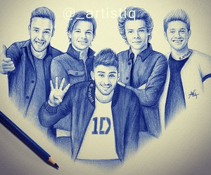 drawing, one direction, and 1d image