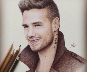 liam payne, drawing, and one direction image