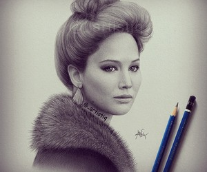 drawing, Jennifer Lawrence, and draw image