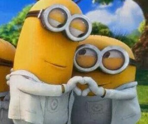 minions and heart image
